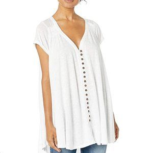 NWT Free People Linen Blend Top - Women's Large
